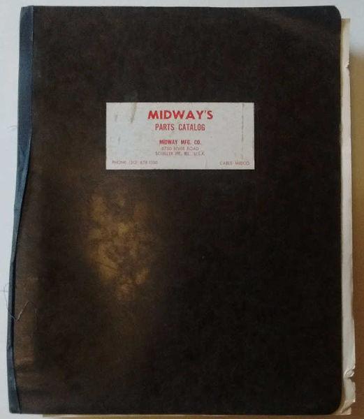 Midway 1960's / 70's EM Arcade Parts Catalog - $124 95 : JT