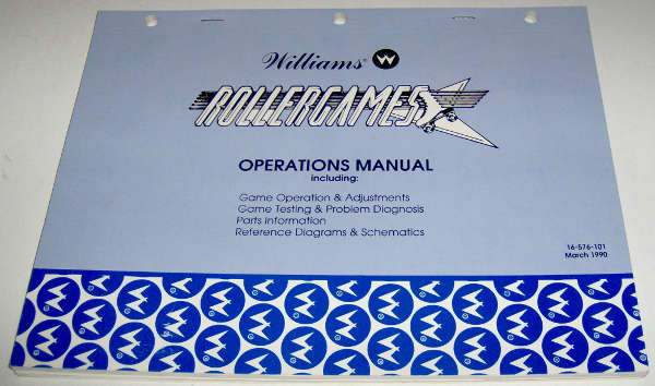 Williams Rollergames Operations Manual [16-576-101] - $29 95 : JT